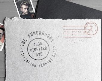 Return Address Stamp - Custom Address Stamp, Rubber Stamp, Hand Written Font, Wedding Gift, Gift (Vol.3 Vrs.8)