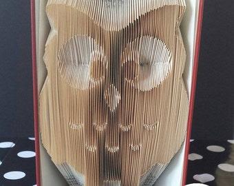 Owl Folded Book Art Pattern