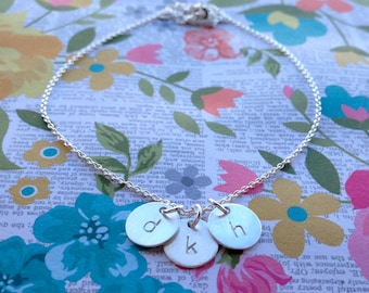 Mother Charm Necklace// 9mm circle charms