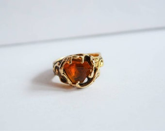 Mideval Gold Ring with Citrine