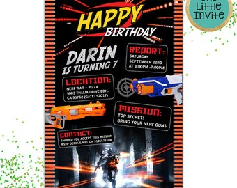 Dart Invitation // Dart Birthday // Dart Invite // Dart Invites  // Dart Birthday Invitation // Dart War // Dart Wars Battle