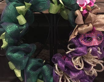 Mardi Gras Deco Mesh Wreath