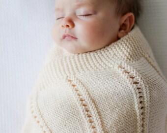 PDF Knitting Pattern -  Peek a Boo Blanket