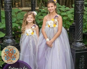 Crocheted tulle special occasion/flower girl dress 5T-8y