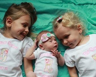Big Sister Shirt - Big Sis Shirt - Big Sister T Shirt - Big Sis T Shirt and Little Sister Bodysuit