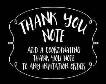 Thank You Note - Made to Match Coordinating Thank You Note