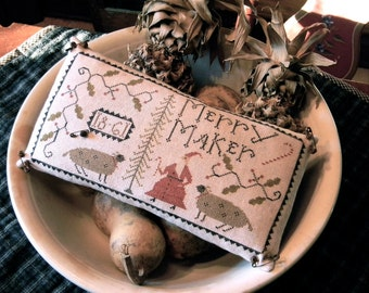Merry Maker - cross stitch - DOWNLOADABLE PDF PATTERN - from Notforgotten Farm™