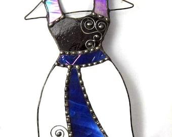 Stained Glass Dress Ornament Suncatcher Decorative Hanging