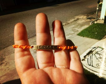 Macrame Bracelet Peace
