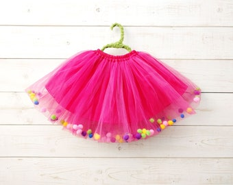 Popcorn Tutu, Unicorn Tutu, Flower Girl, Bubble Tutu, Rainbow Tutu, Rainbow Costume, Ballet Skirt, Dancewear, Ballet, Costume
