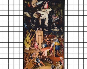 Back in stock! Hieronymus Bosch The Garden of Earthly Delights Hell Back Patch Jenni's Prints Paintings Surrealism Fantasy Art