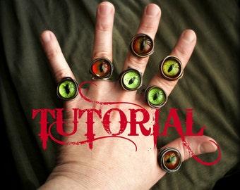 Eye Ring Tutorial.  How To Make An Evil Eye Ring.  Steampunk Tutorial.  Wire Wrap Tutorial. DIY.