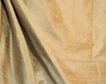 Soft gold silk fabric AC103 Almond