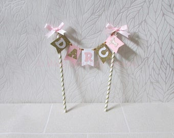 Mini Cake Topper Name Bunting.