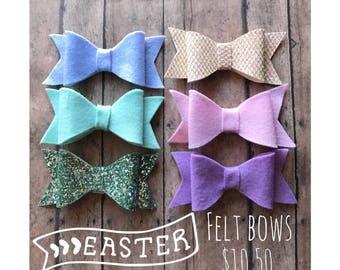 Easter Felt Bows