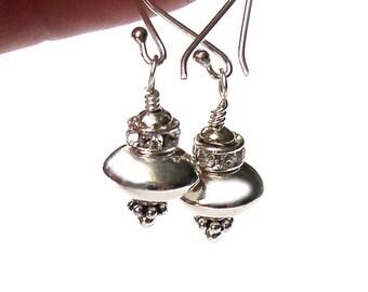 UFO Earrings Spaceship Sterling Silver