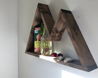 Floating Mountain Shelf - Perfect for your new Nursery, office, or living room.  Wall Decor for any theme.