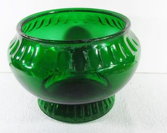 Vintage green glass Napco Cleveland Ohio indoor planter