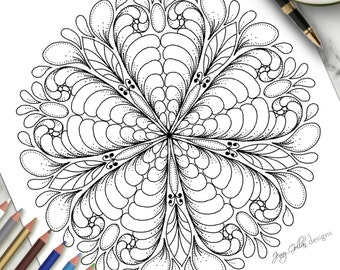 Printable Colouring Page Full Of Life