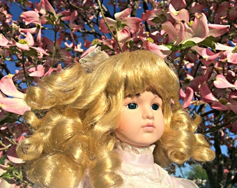 """18"""" Beautiful Blonde Porcelain Doll - Brittany"""