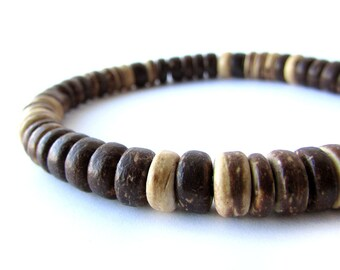 Men's wooden bracelet - made from eco-friendly coconut shell - Woodsman