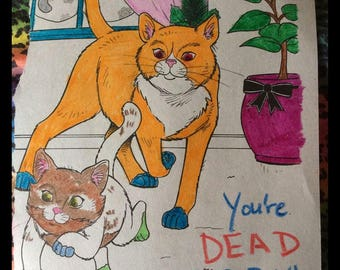 Stephen King's IT Horror Kitties Cat Art