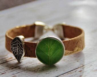 Cork bracelet and glass-sheet cork Bracelet