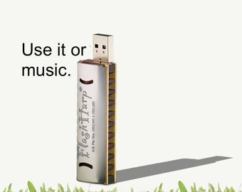 Tech Lover Gift USB Accessory 8gb C Lesson-loaded FlashHarp