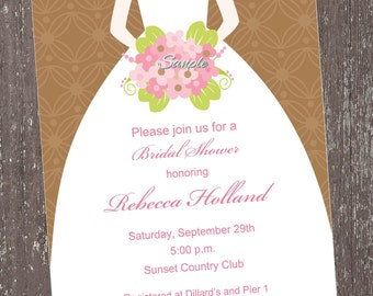 Bridal Shower Invitations - Different Colors ....