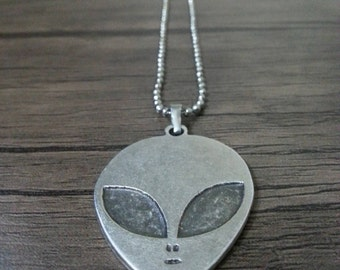 Alien Necklace 925 Silver Plated  FREE Shipping