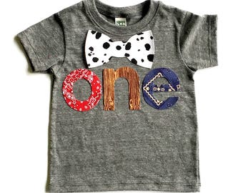 Farm Life,Birthday Letters one & Bow Tie,Fabric Iron On Appliques,NEW DESIGN