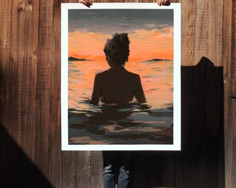 Summer Sunset .  extra large wall art . giclee print
