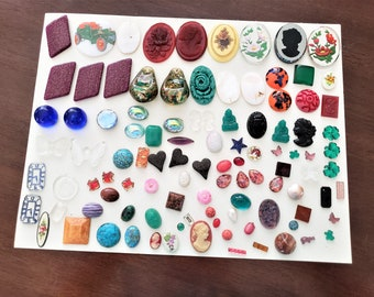 Vintage Cabochon Lot for Repair Repurpose Mostly Glass
