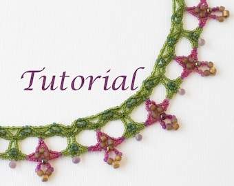 Beaded Necklace Tutorial Orchid Digital Download