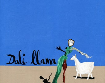 The Dali Llama // Dali surreal pun art print