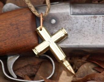 Bullet Cross Necklace