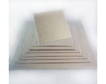 """Tray Presentation square end 18 x 18 cm 7 """"for cakes bakery"""