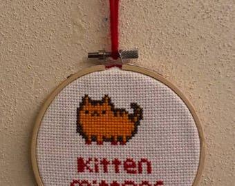 Kitten Mittons Cross-stitch
