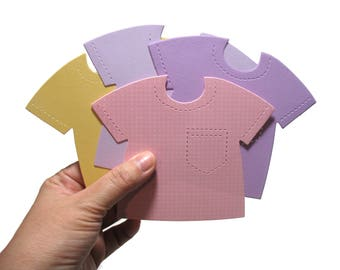 Baby Girl Shirt Die Cuts - 20Baby Girl Card-Making Supplies - Cute Pink Purple Yellow T-Shirts - Die-cuts for Papercrafting & Scrapbooking