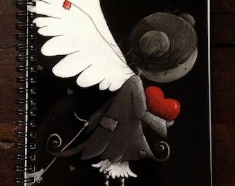 Moonseed angel spiral bound notebook