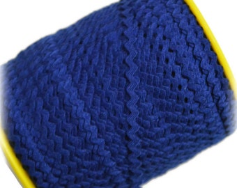 "Narrow Royal Blue RicRac. 3/16"" Royal Blue Ric Rac Trim. Skinny Royal Blue Ric Rac. Scalloped Royal Blue Trim. 3 Yards"