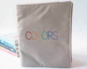 Cloth Book of Colors - Perfect Soft Fabric Book for Baby or Toddler - Educational Toys - Cloth Book - First Birthday Gift  - Gift for Baby