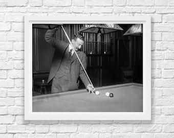 Billiards Photograph - Vintage Billiards Art - Billiards Room Decor - Pool Hall Art - Pool Wall Art - BIlliards Decor - Billiards Poster