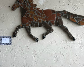 Mosaic Mustang Horse. Unique, one of a kind.
