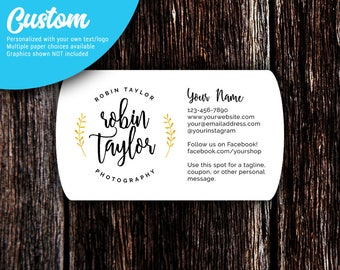 Business Cards | Oval Ends Business Cards | Custom Business Cards | Calling Cards | Social Media Cards | SH513 01