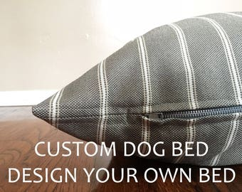 You Choose Fabric, Custom Dog Bed, Dog Bed, Dog Bed Cover, Any Size, Puppy Bed,Fabric Consultation