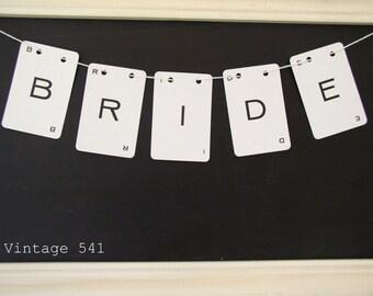Vintage Letter Banner BRIDE