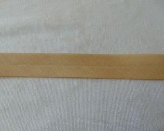 Plain, beige fabric, width 40/20 mm (P006)
