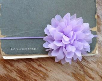 SKINNY LAVENDER PETAL Flower Headband, Newborn Headband, Purple Headbands, Lavender Headband, Newborn Baby, Baby Headbands, Infant Headbands