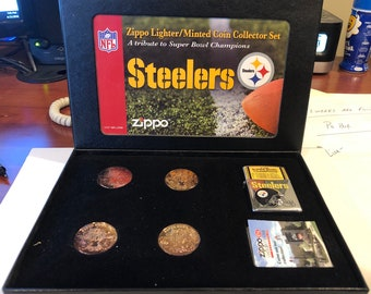 Zippo Pittsburgh Steelers NFL Super Bowl Limited Edition Set  247/3000 Made